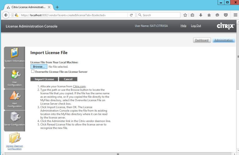 citrix xenapp import license file