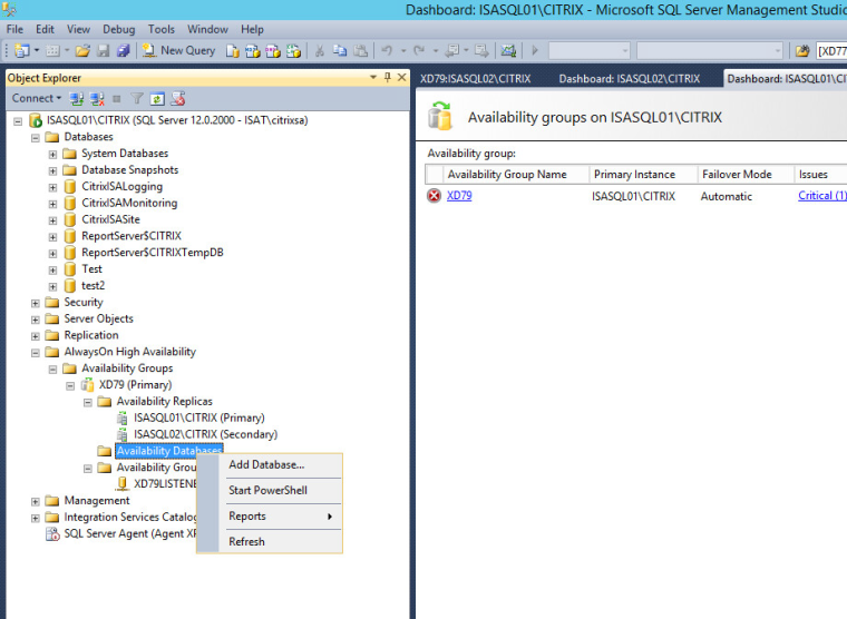 Citrix XD 7 9 Install – [Extra] Enabling Always On HA for XD